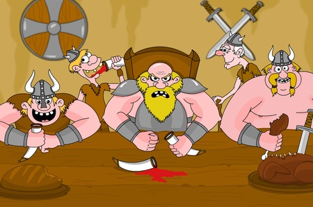 vikings: Vikings dr�le de manger et de boire