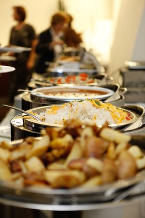 catering service: Catering food at a party