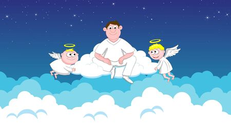 deceased: Angels in heaven and deceased Stock Photo