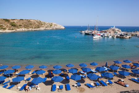 Kolymbia beach landscape, Rhodes island, Greece