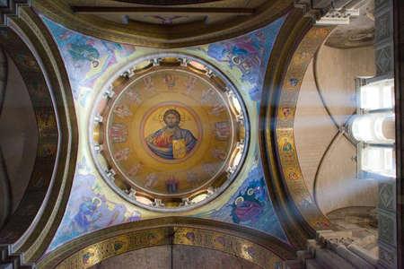 A cupola in Jerusalem orthodox church