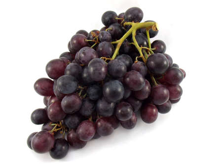bunch of grapes on white background- isolated photo