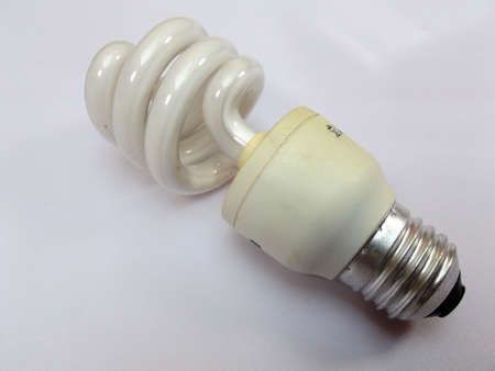energy-saving bulb on white background-isolated photo