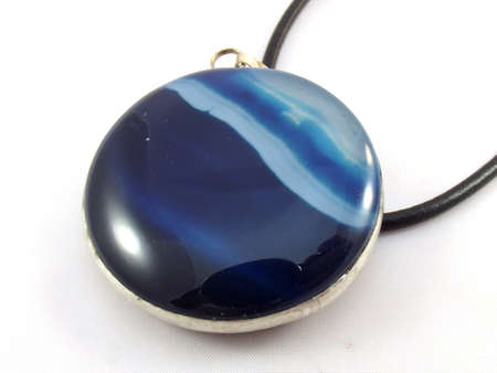 blue pendant on white background photo