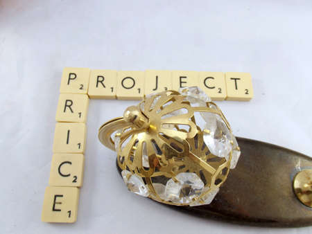 proportionate: word price,projecton white background