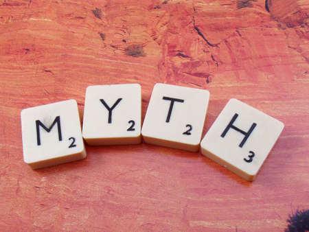 word myth on abstract background
