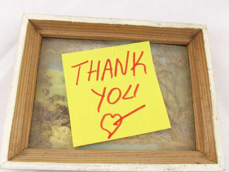 the word thank you frames photo