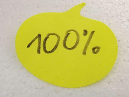 word 100  on white background photo