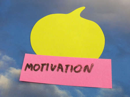 word motivation on abstract background photo