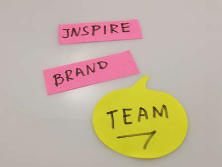 word team,inspire,brand photo