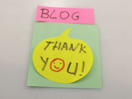 word blog,thank you Stock Photo - 16424790