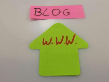 word blog,w.w.w. Stock Photo - 16424806
