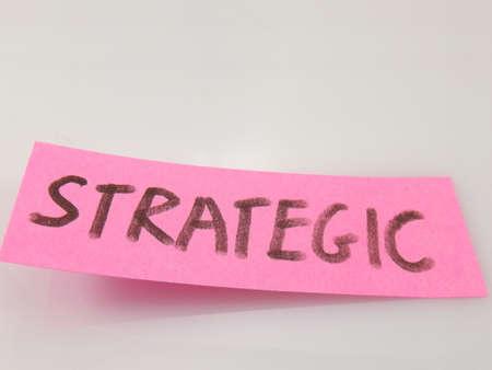 word strategic on white background photo