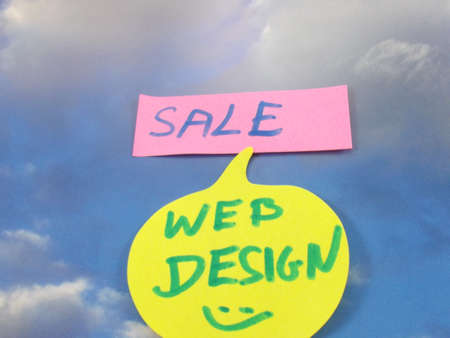 word sale,web design Stock Photo - 16460747