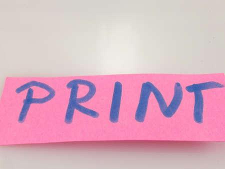 interst: word print on white background