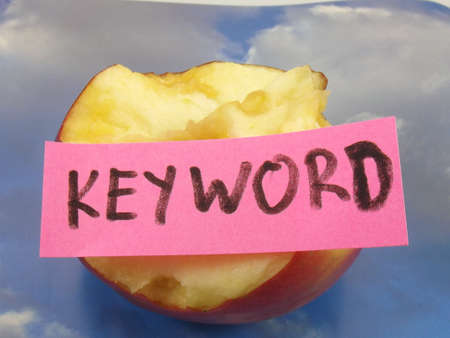 keyword: word keyword on abstract background