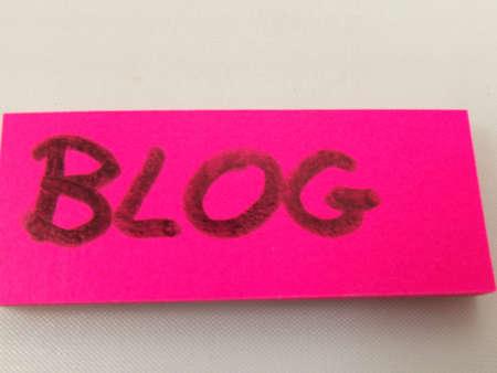 word blog on white background Stock Photo - 16571205