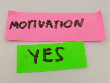 word motivation,yes on white background photo