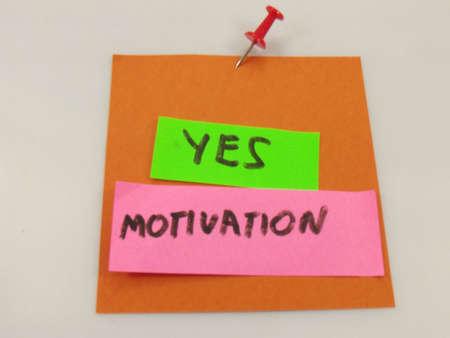 word yes ,motivation on white background photo
