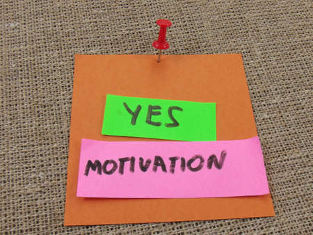 word yes motivation on abstract background photo