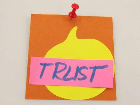 word trust on white background Stock Photo - 16583857