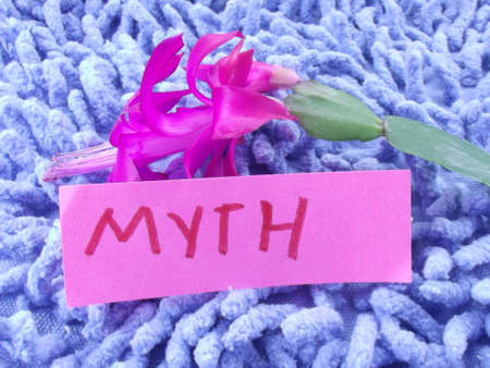 word myth on abstract background Stock Photo - 17216003