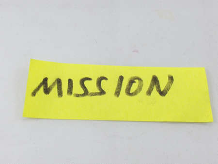 internal revenue service: word mission on white background