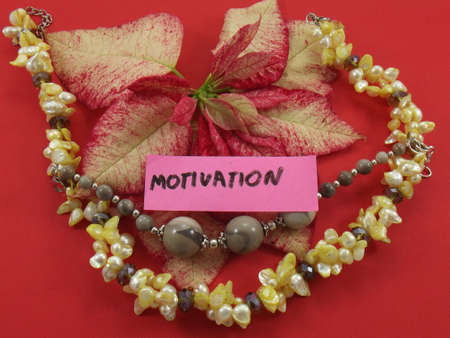 word motivation on red background photo