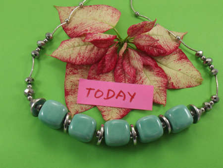 word today on green background photo