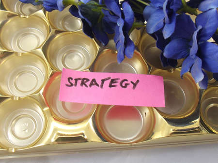 suppliers: WORD STRATEGY ON A ABSTRACT BACKGROUND
