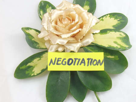 WORD NEGOTIATION photo