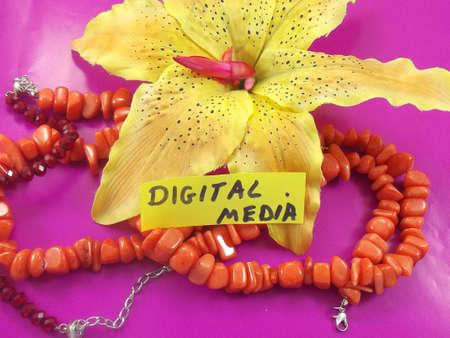 word digital media photo