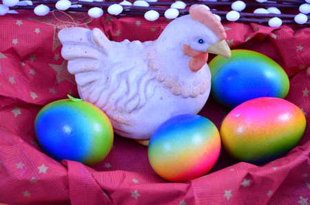 EASTER CHIKEN AND EGGS  photo