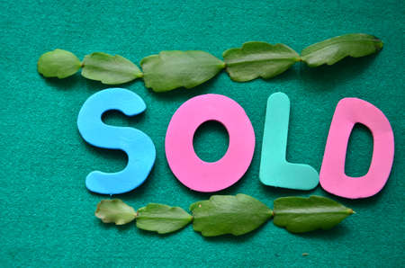 adjudicate: word sold on a green background