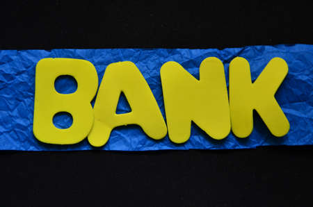 annuity: word bank on a blue