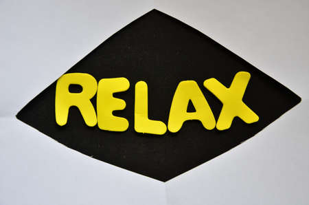 WORD RELAX ON A BLACK photo