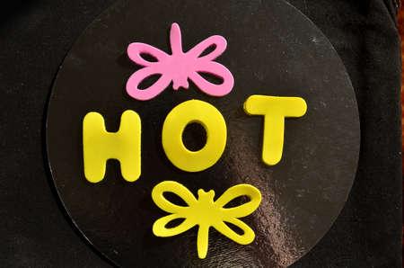 word hot photo