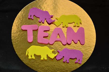 synergies: word team Stock Photo