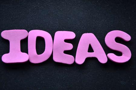 reforming: Ideas palabra en un negro