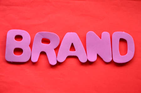 word brand on a red photo