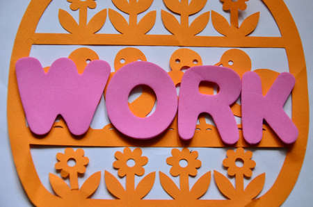 obligations: word work Stock Photo
