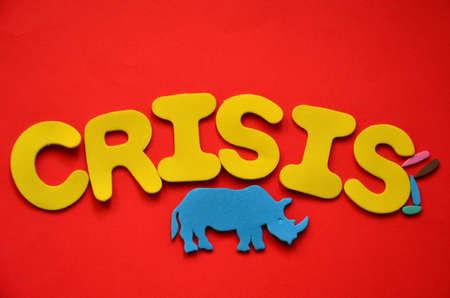 word crisis Stock Photo - 20150959