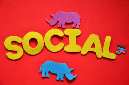 word social photo