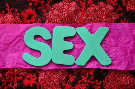 WORD SEX Stock Photo - 20262254