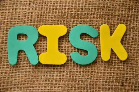 prioritization: word risk Stock Photo