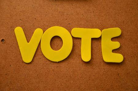 word vote Stock Photo - 20325012