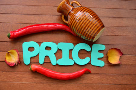 discounting: word price Stock Photo