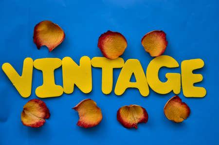 word vintage photo