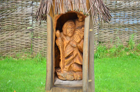 Wooden sculpture garden photo