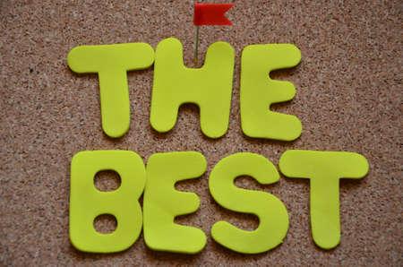 glorification: word the best Stock Photo